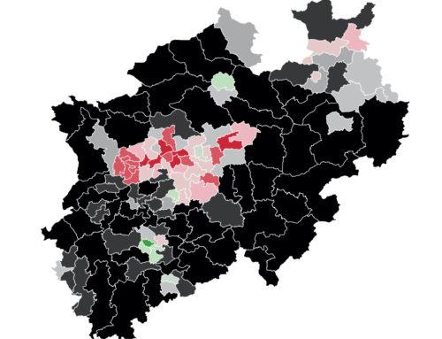 NRW: CDU im Land deutlich schwächer als im Bund  – SPD und Grüne gleichauf